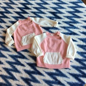 Twins! Infant girls 3-6m OshKosh Sweaters